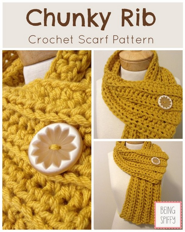 chunky-rib-scarf-crochet-pattern