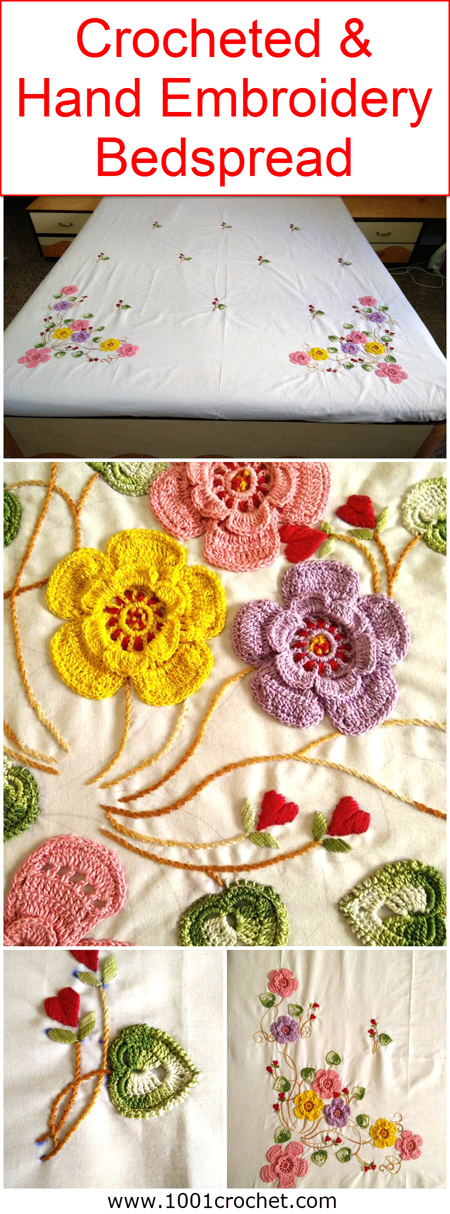 crocheted-hand-embroidery-bedspread