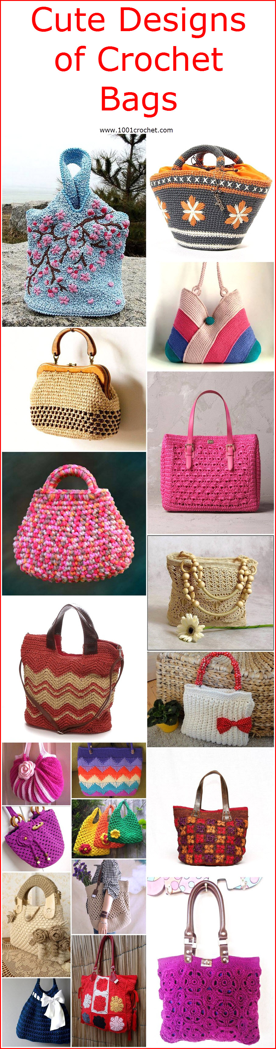 Cute Designs of Crochet Bags – 1001 Crochet 6c9add99a9f88