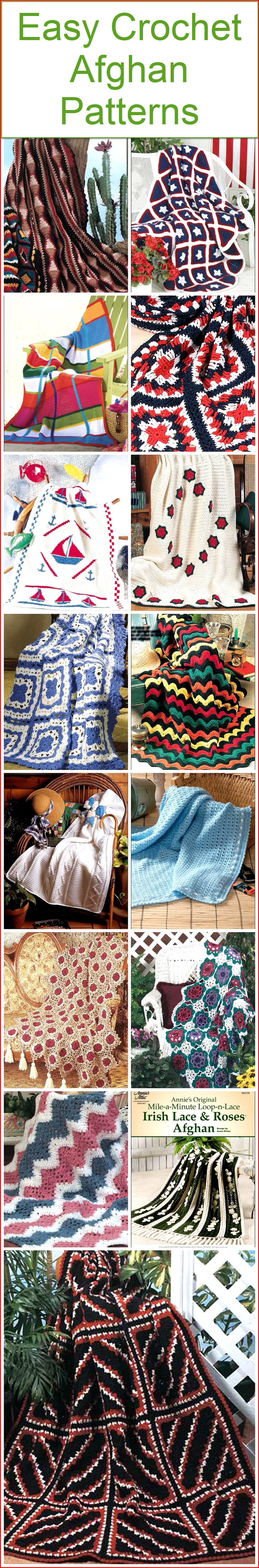 Easy Crochet Afghan Patterns | 1001 Crochet