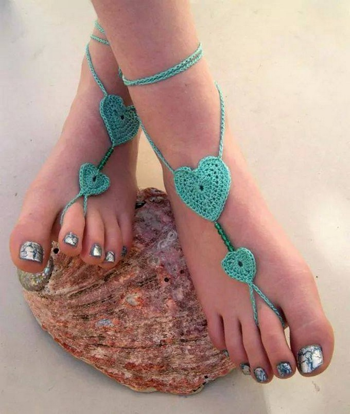 crochet-barefoot-sandals