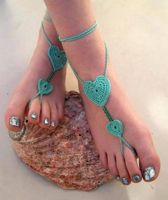 Pretty Ideas For Crochet Barefoot Sandals 1001 Crochet