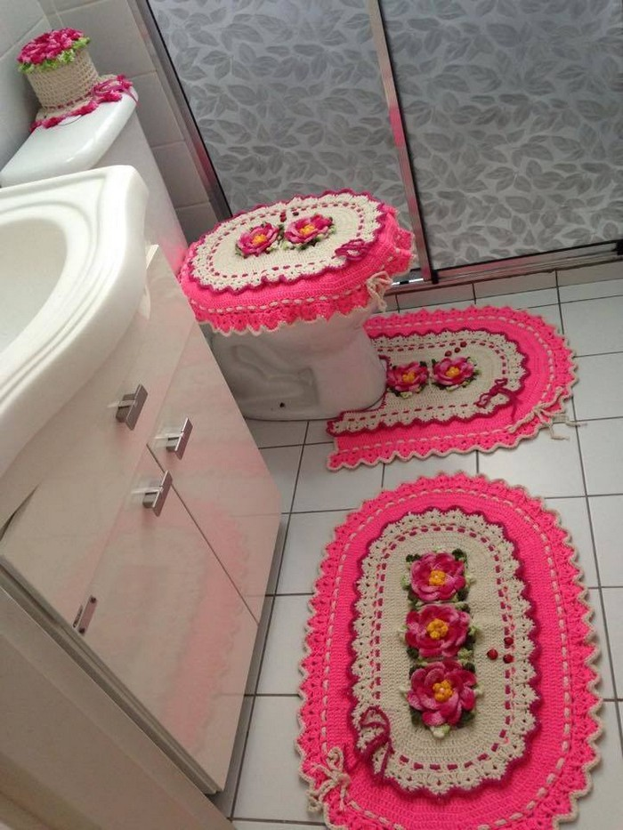 crochet-bathroom-set