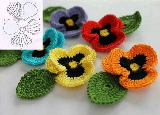 15 DIY Flower Crochet Chart Diagrams
