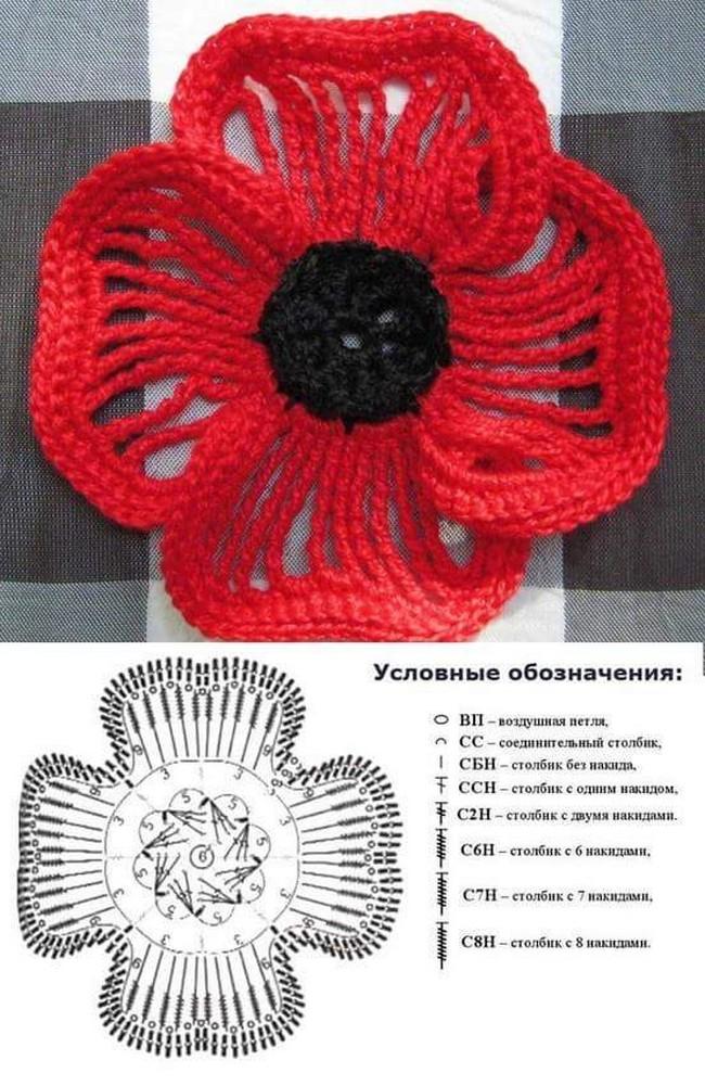 15 diy crochet flower patterns 1001 crochet crochet flower pattern 3 ccuart Gallery