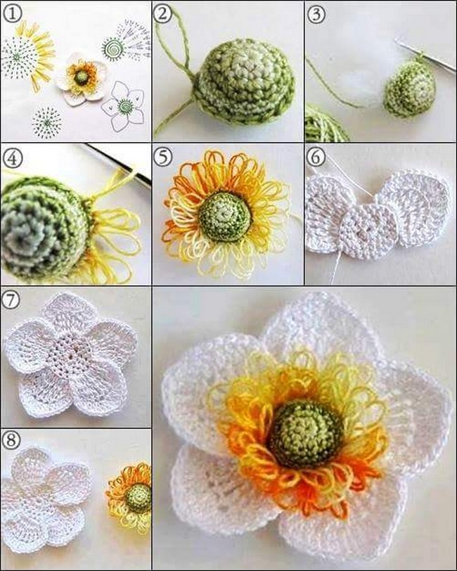 15 Diy Flower Crochet Chart Diagrams 1001 Crochet