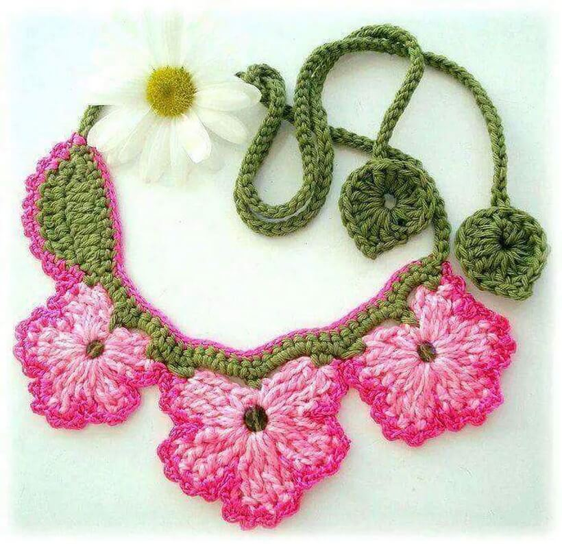 crochet necklace 11
