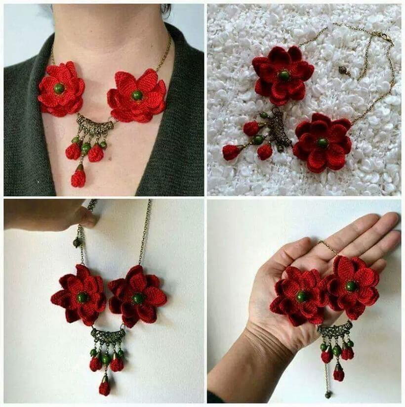 crochet necklace 12