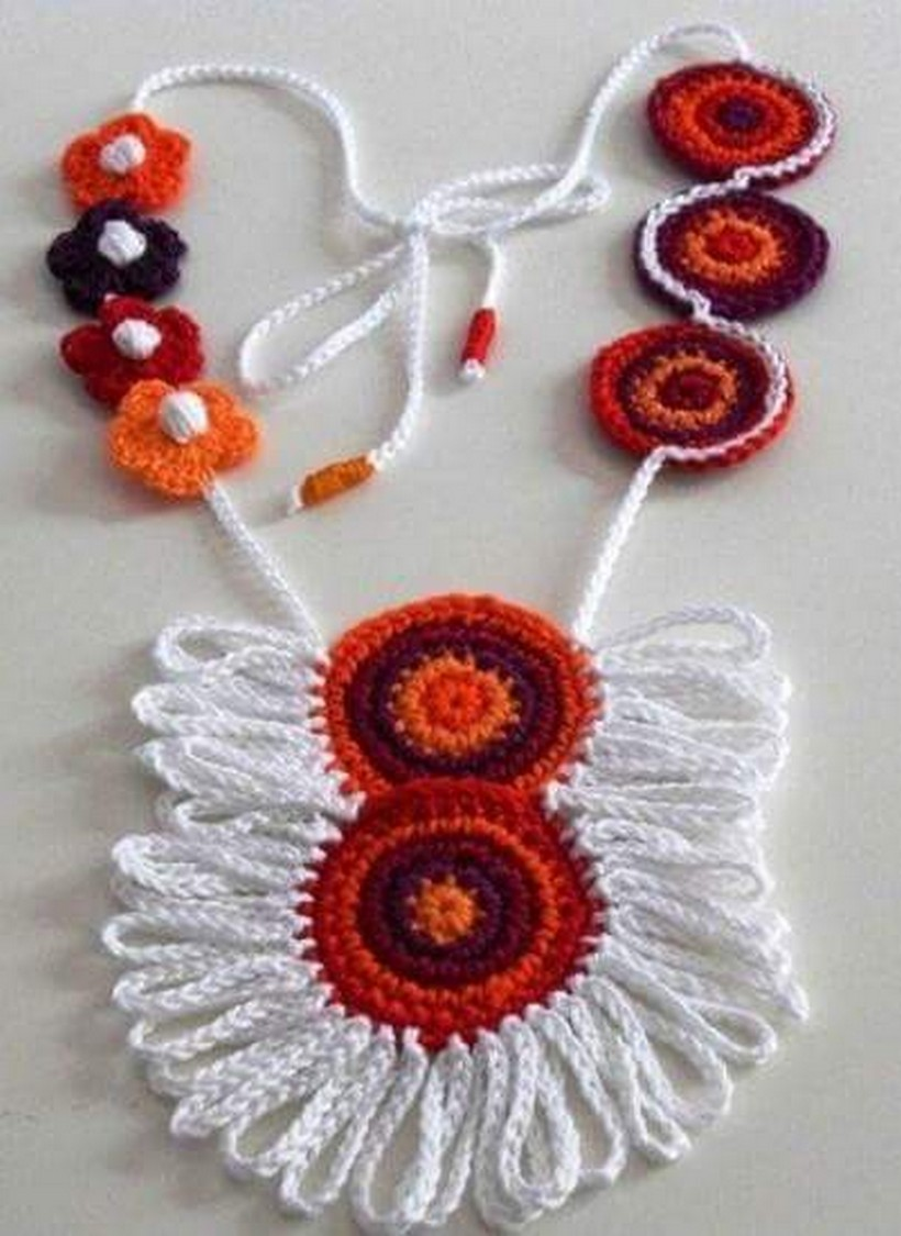 crochet necklace 21