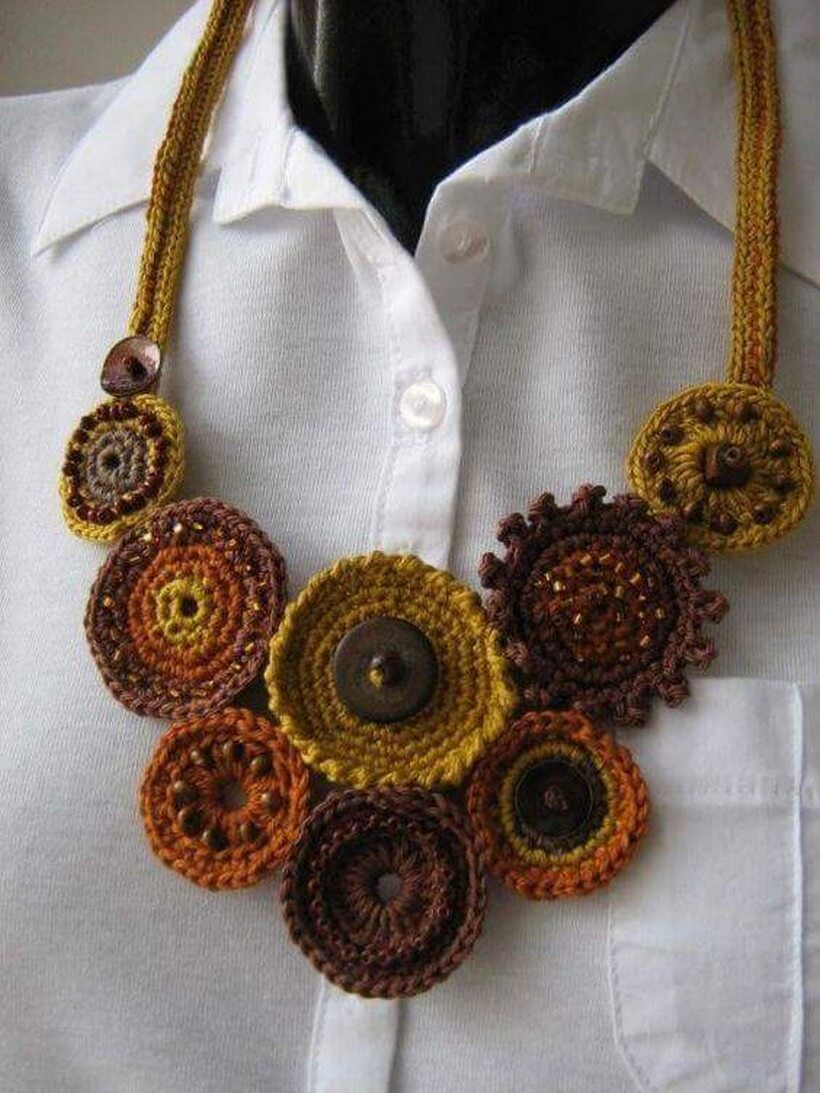 crochet necklace 28