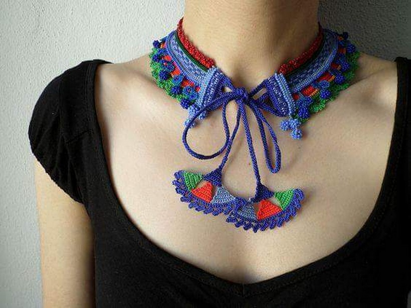 crochet necklace 37