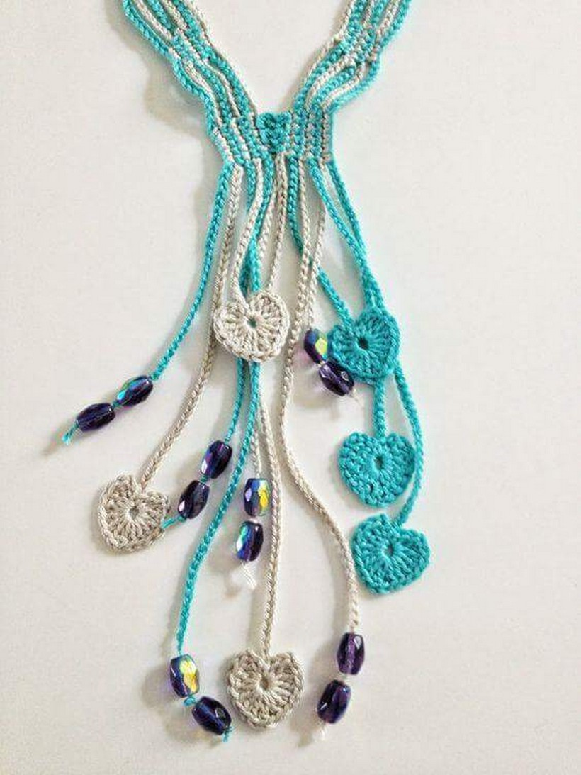 crochet necklace 38