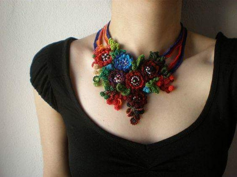 crochet necklace 39