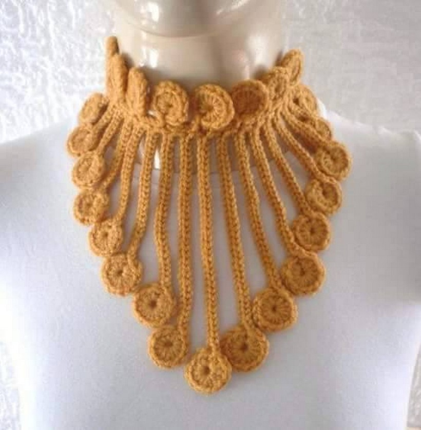 crochet necklace plan