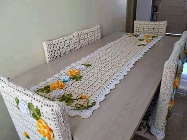 crochet table clothing