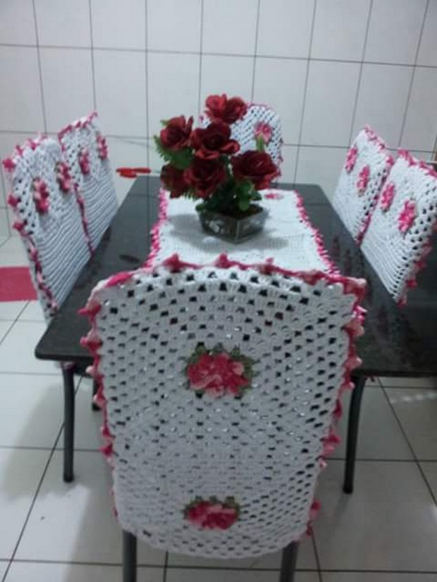 crochet table runner idea
