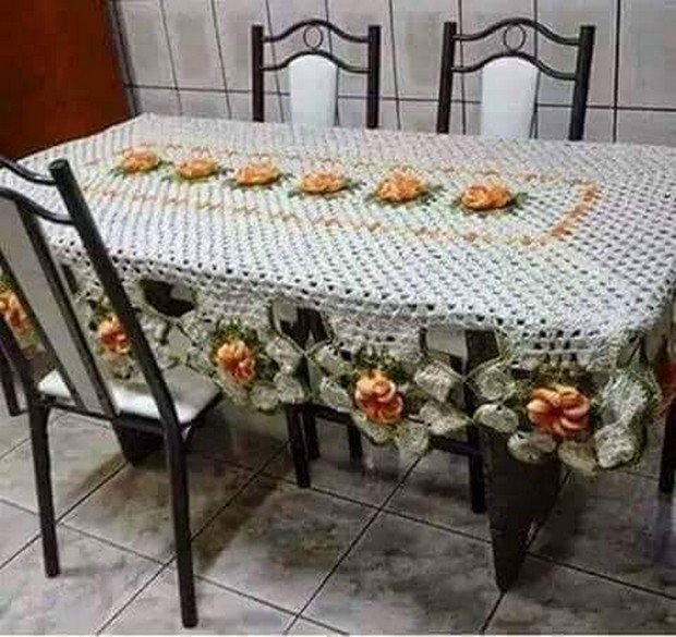 crochet table runner plan