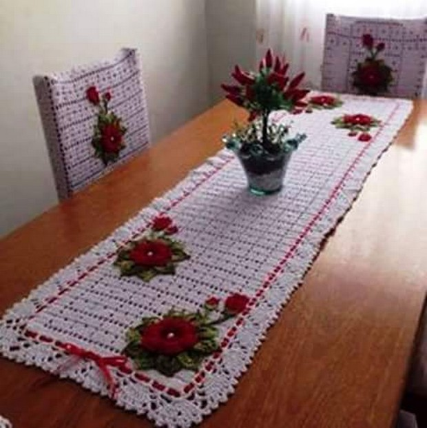 crochet table runner plans
