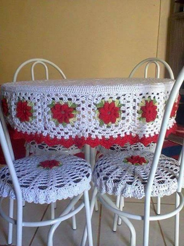 crochet table runner project