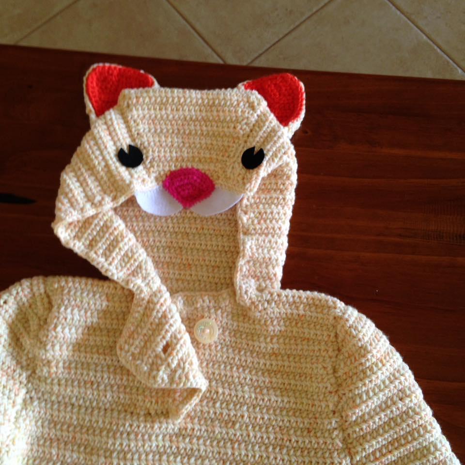 Cat Hoodie Crochet Sweater | 1001 Crochet