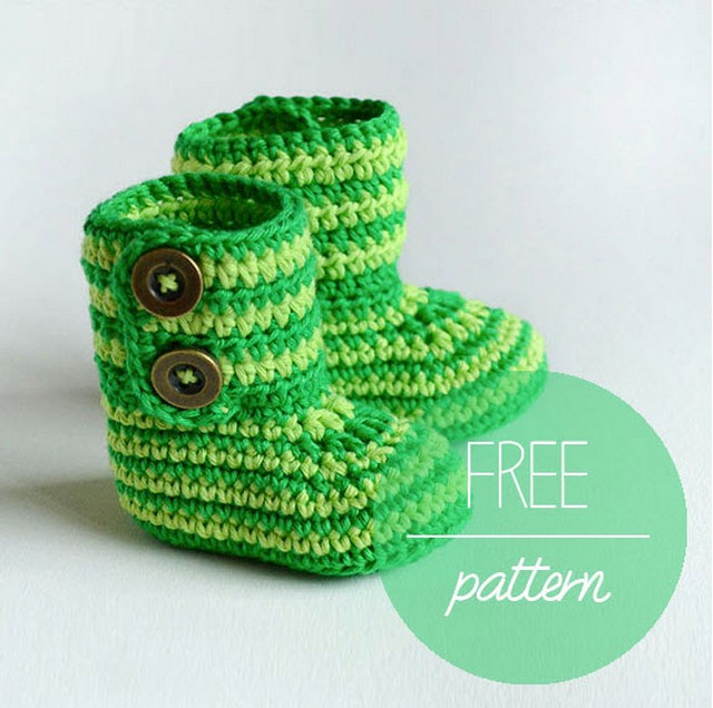 crochet-baby-booties-green-zebra