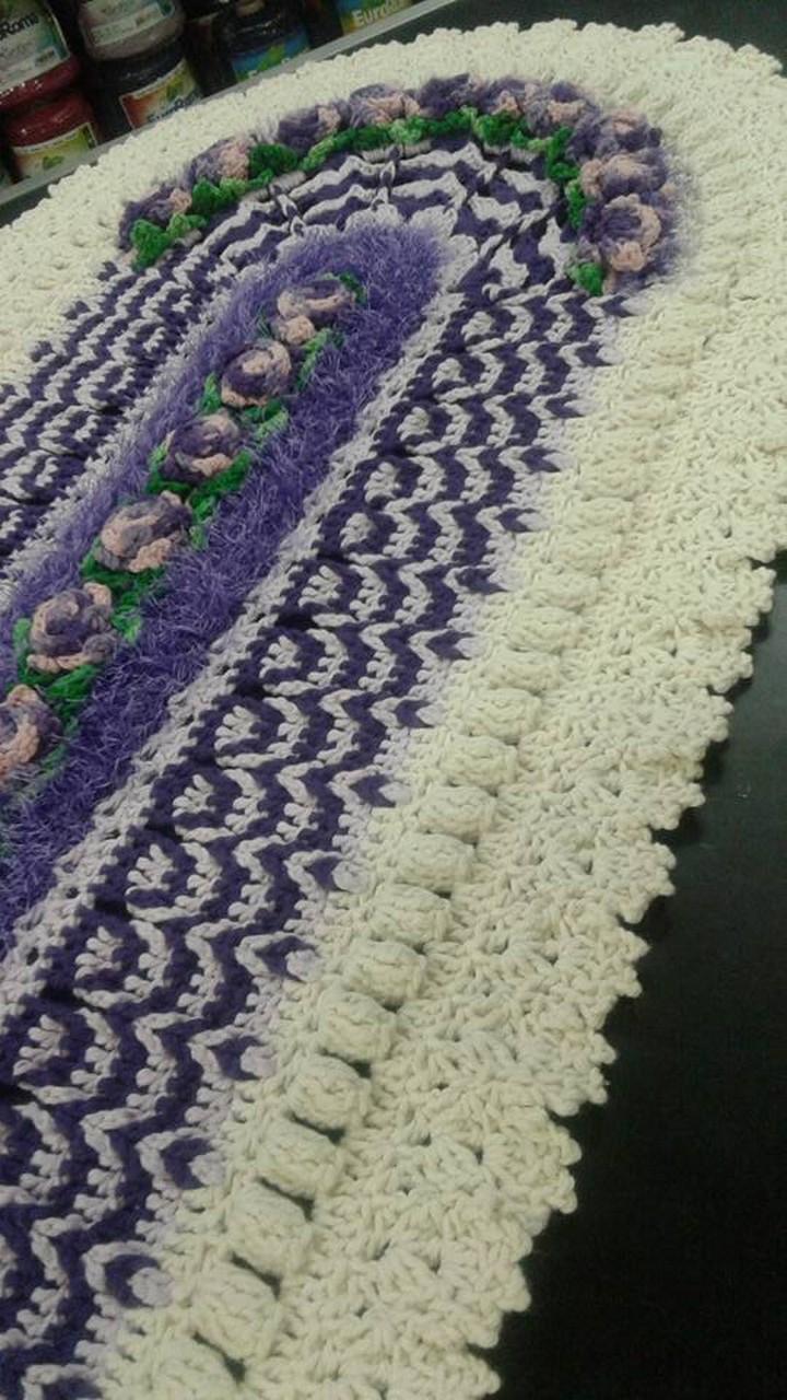 Crochet Oval Afghan Pattern : Crochet Carpet Ovals 1001 Crochet