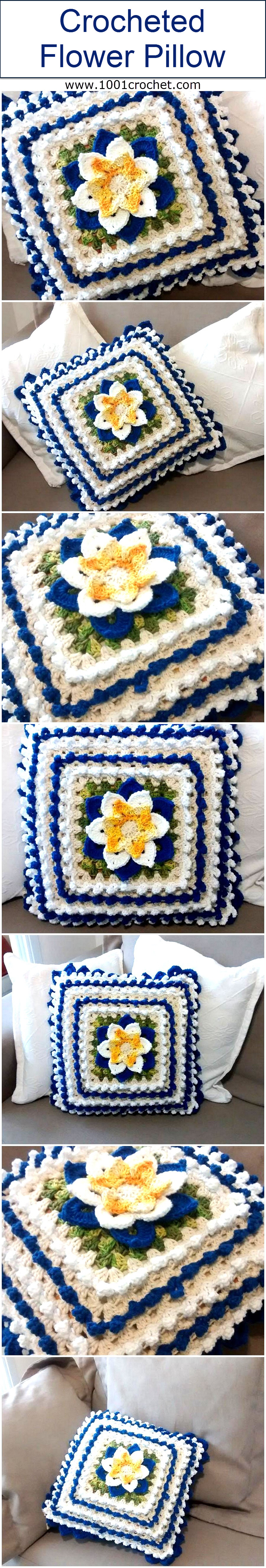crocheted-flower-pillow