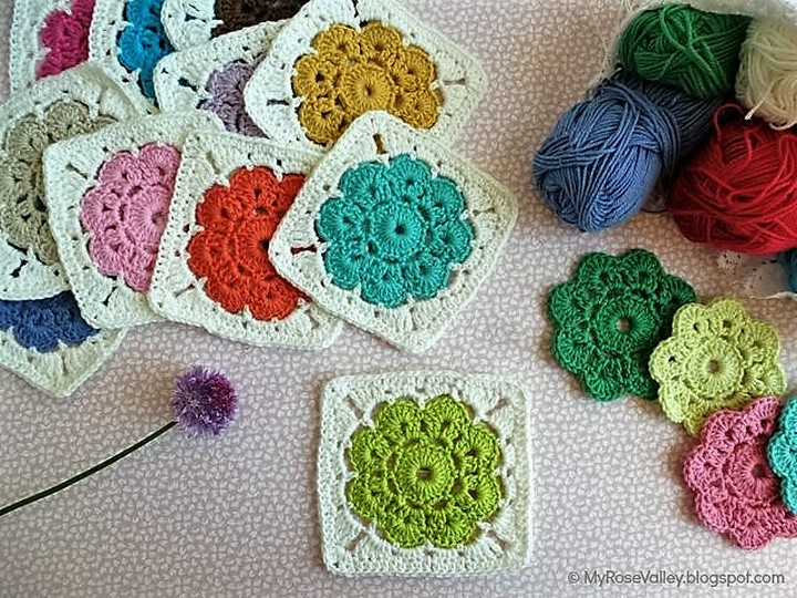 Easy & Free Granny Square Patterns | 1001 Crochet
