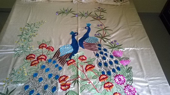 Machine Embroidered Bed Sheet