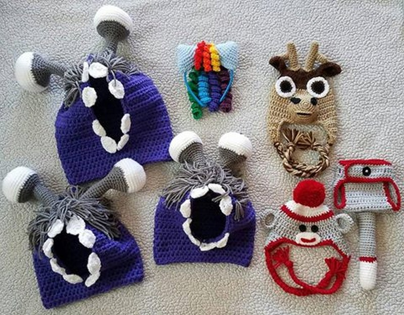 30 Shinning Crocheted Hats & Caps