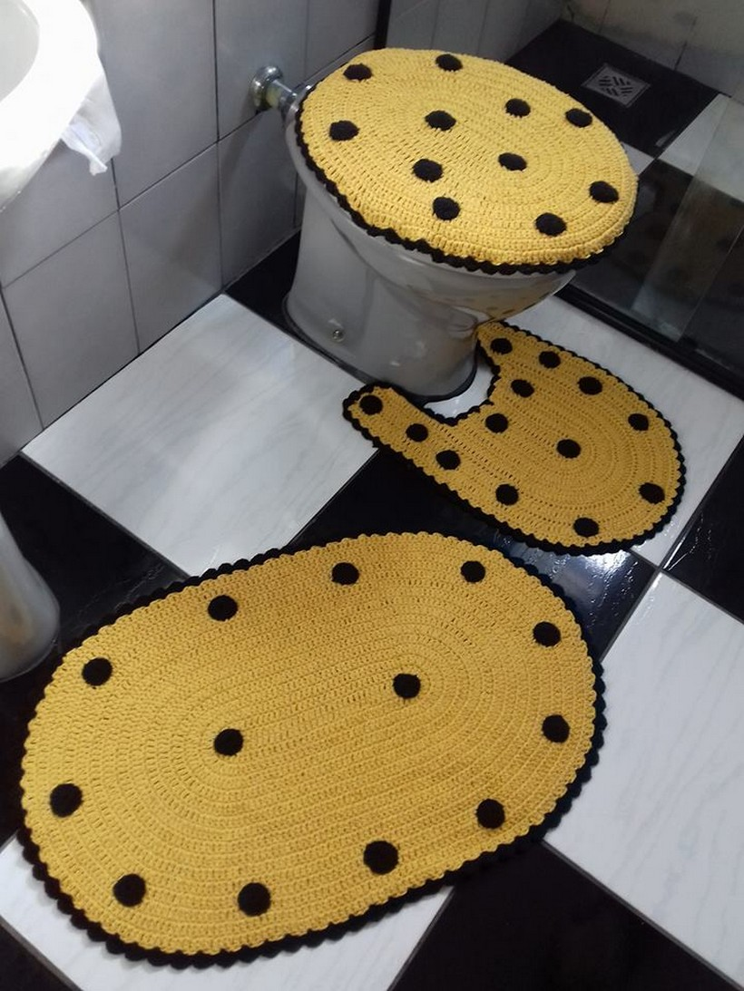 Crocheted Bathroom Ladybug