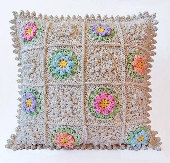 Diy Crochet Cushion Cover 1001 Crochet