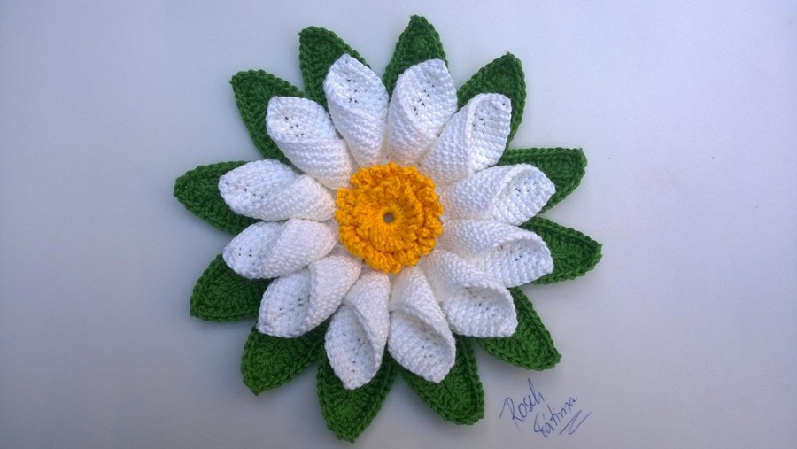 Crocheted Flowers Created by Roseli Fatima
