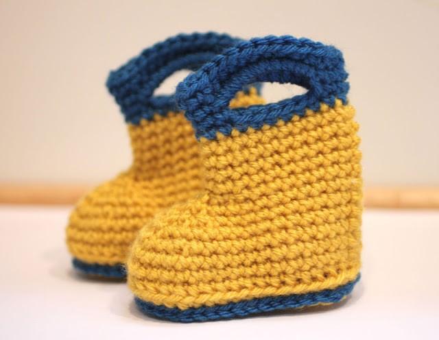 crochet-rain-boots