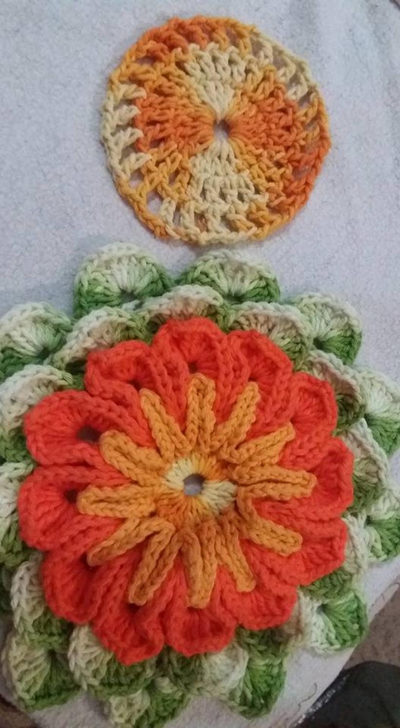crochet-rug-flower