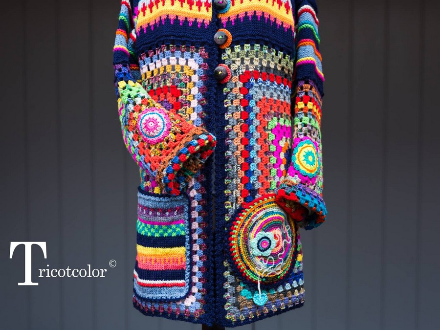 Crochet Vest with Bonnet