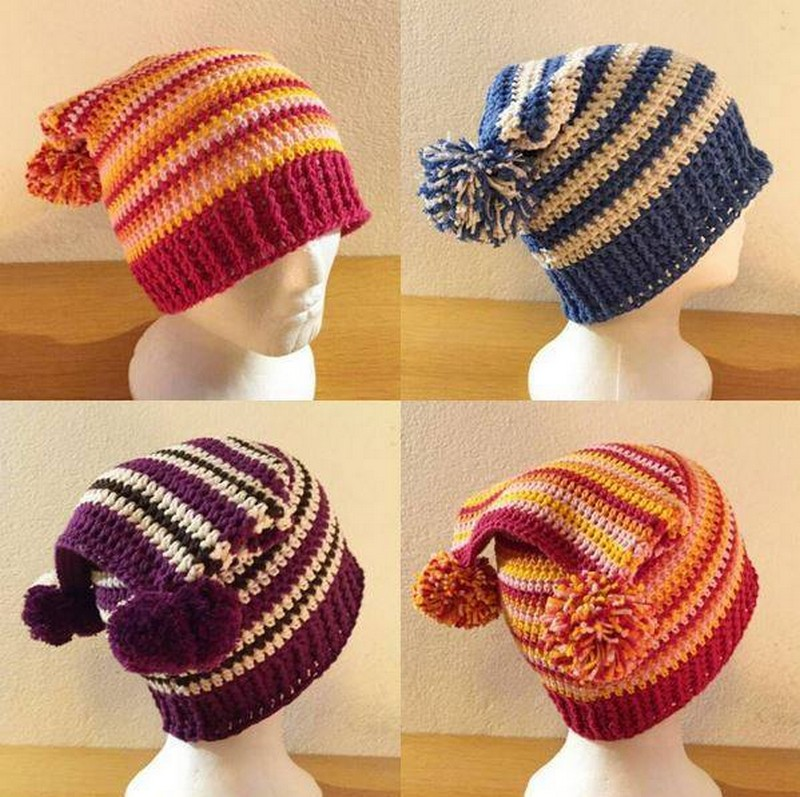 crochted-scrap-yarn-hats