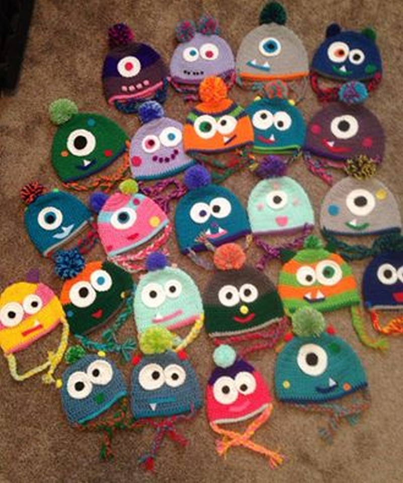 monster-crochet-hats