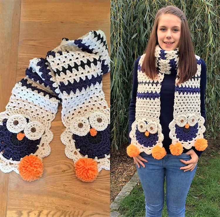 Adorable Crochet Scarf Designs