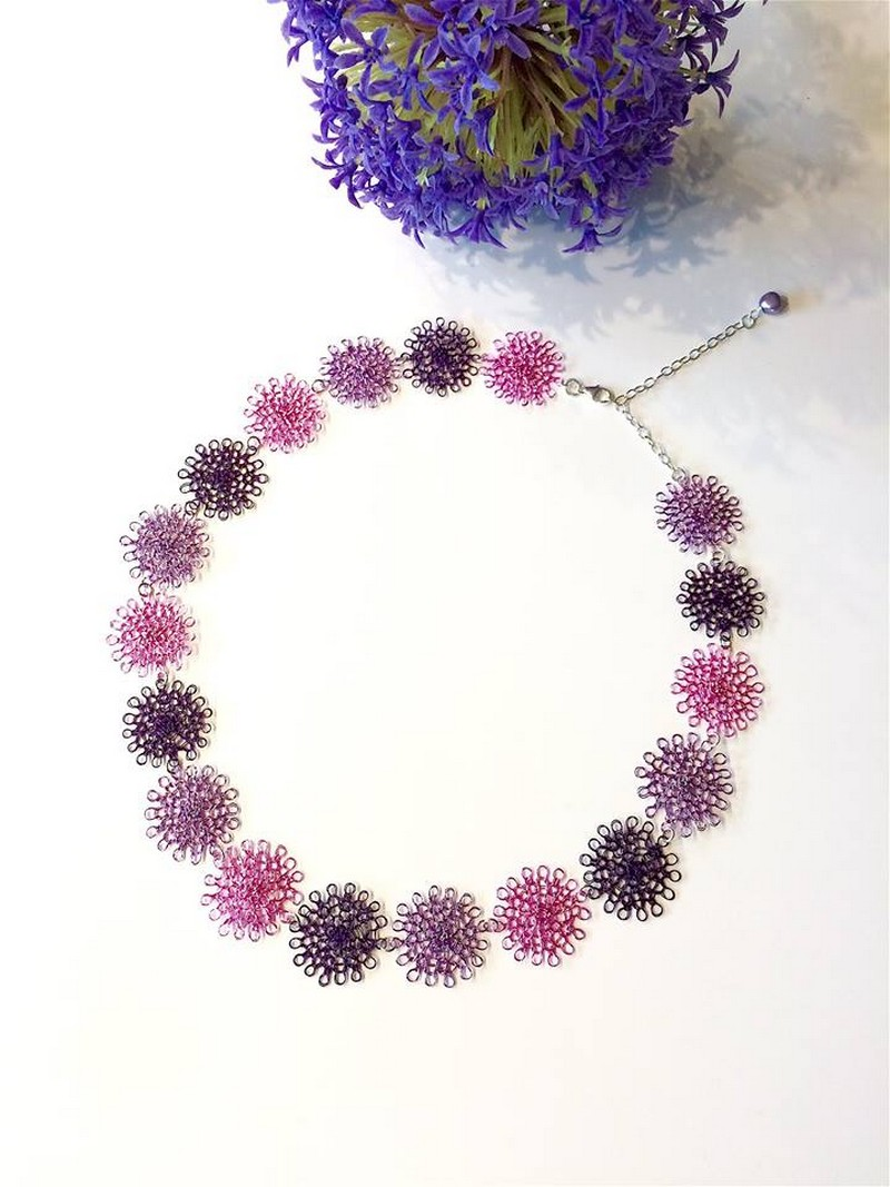 Wire Crochet Jewelry Set | 1001 Crochet