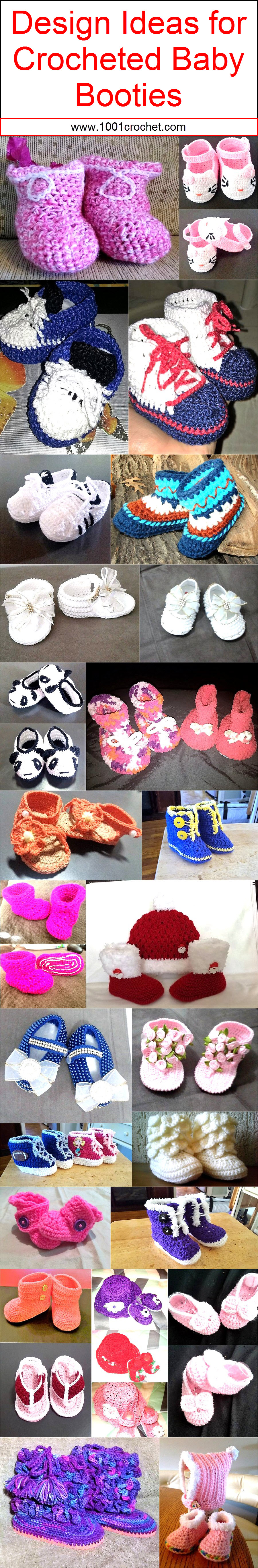 design-ideas-for-crocheted-baby-booties