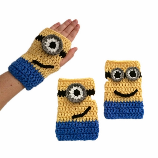 free-crochet-pattern-minion-mitts