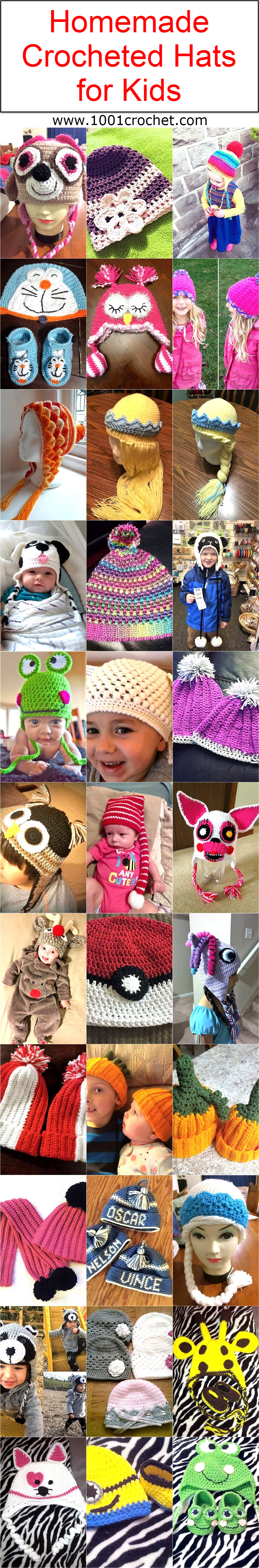 homemade-crocheted-hats-for-kids