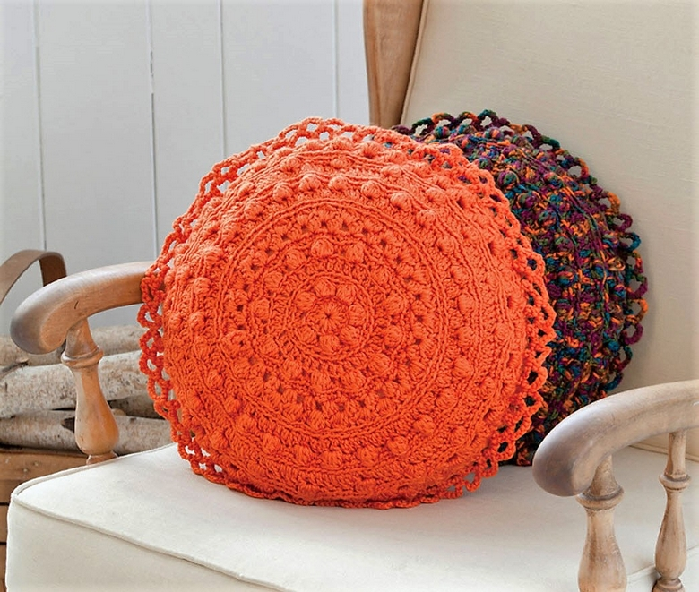 puff-stitch-round-pillows-crochet-pattern