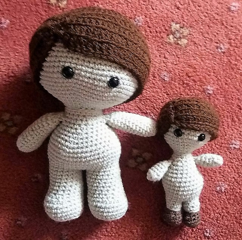 Amigurumi crochet boy doll pattern available on etsy by LittleBeauMouse |  Păpuși coșetate, Croșetare, Păpuși | 814x820