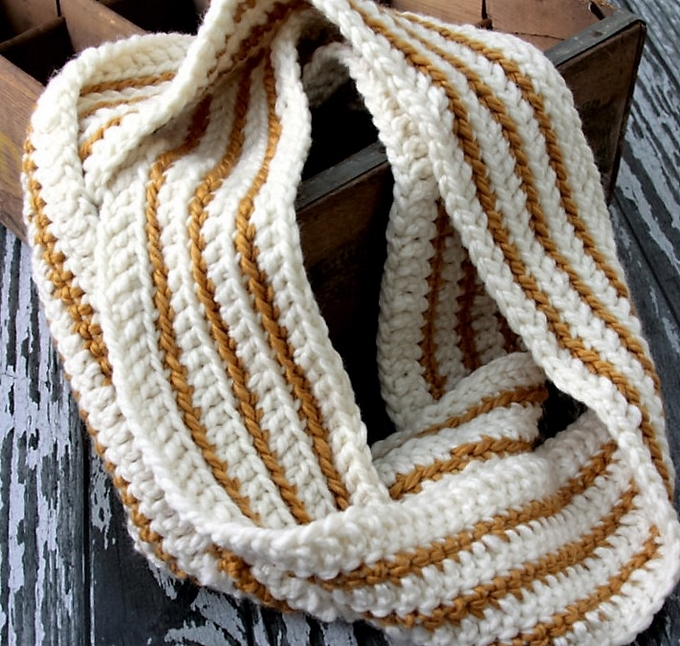 cozy-striped-crochet-infinity-scarf