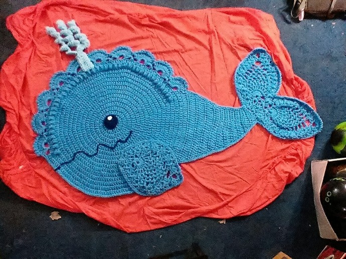 I Wanted To Share What I Finished Tonightu2026this Whale Rug. Vicky Kirch