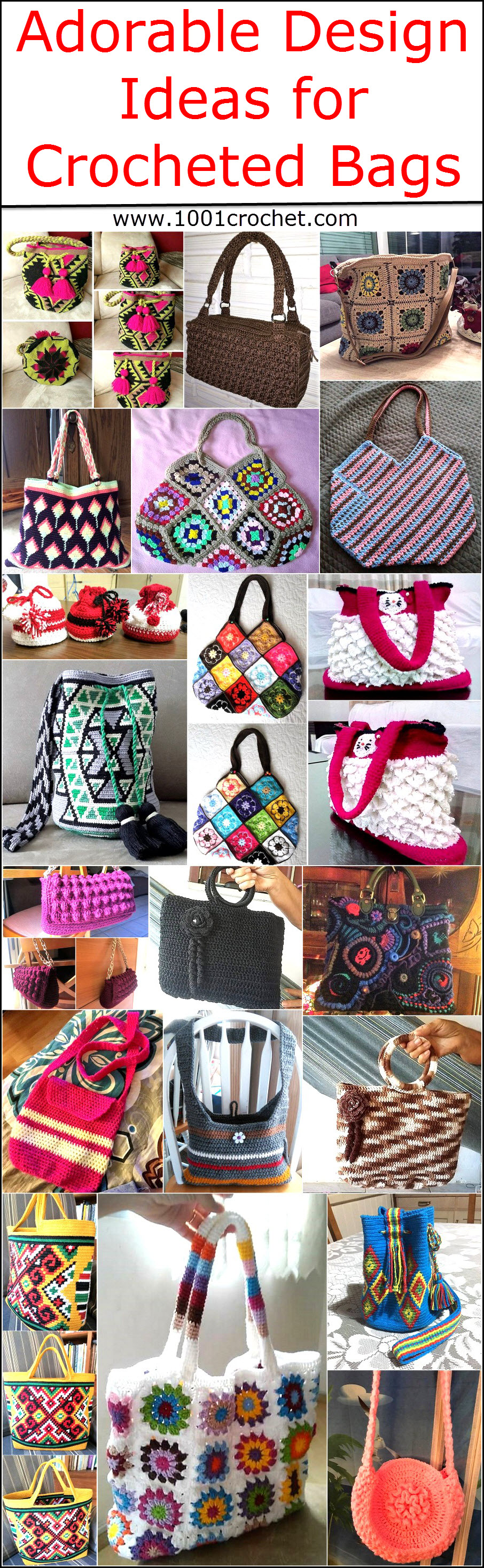 Adorable Design Ideas for Crocheted Bags