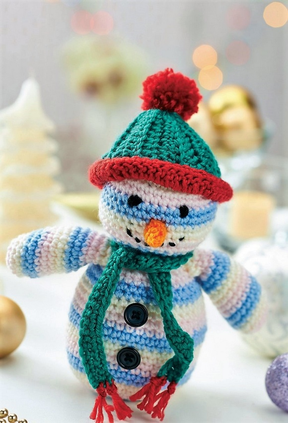 CROCHET SNOWMAN TOY Pattern