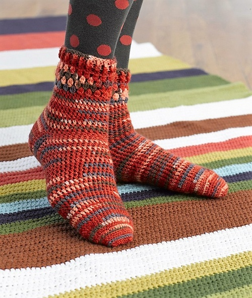 Cozy Crochet Socks Pattern